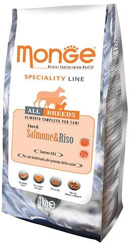 Monge Speciality Line Adult All Breeds Salmon сухой корм для взрослых собак всех пород с лососем