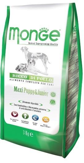Monge Daily Line Puppy&Junior Maxi Breed Chicken сухой корм для щенков крупных пород с курицей