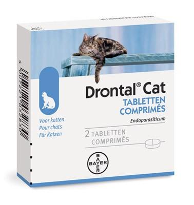 Дронтал таблетки для кошек от внутренних паразитов 1 упаковка