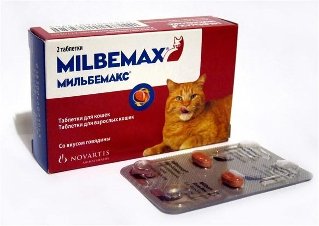 Мильбемакс таблетки для взрослых кошек от внутренних паразитов 1 упаковка