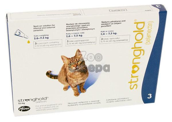 Stronghold 45 мг капли для кошек от внешних паразитов 1 пипетка