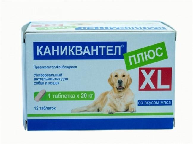 Каниквантел Плюс XL таблетки для собак крупных пород от внутренних паразитов 1 таблетка