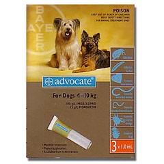 Адвокат капли от внешних паразитов для собак до 4 кг (цена за 1 пипетку)