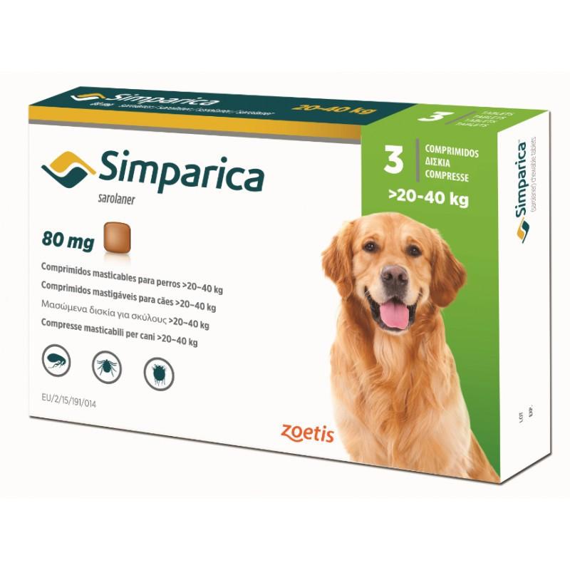 Simparica Симпарика таблетка для собак от 20 до 40 кг от внешних паразитов 1 таблетка