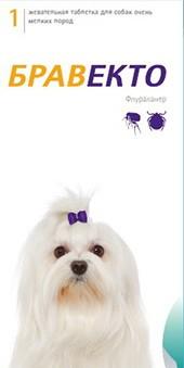 Бравекто таблетка для собак от 2 до 4,5 кг от внешних паразитов 1 упаковка