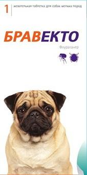Бравекто таблетка для собак от 4,5 до 10 кг от внешних паразитов 1 упаковка
