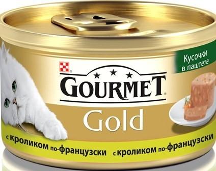 Gourmet Gold Террин консервы для кошек всех возрастов с кроликом по-французски 85г