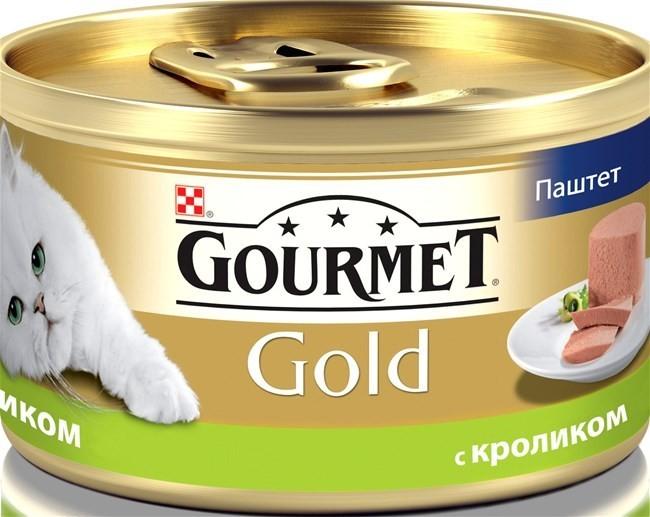 Gourmet Gold консервы для кошек всех возрастов с кроликом 85г