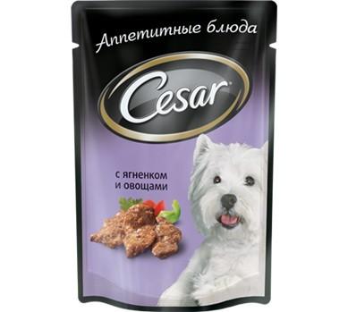 Cesar пауч для собак всех возрастов малых пород с ягненком и овощами 100г