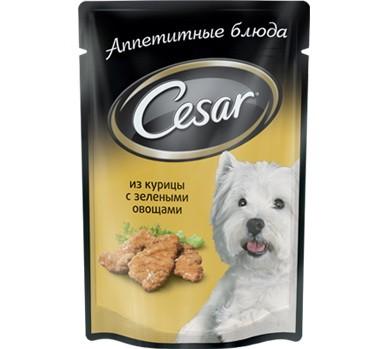 Cesar пауч для собак всех возрастов малых пород с курицей 100г