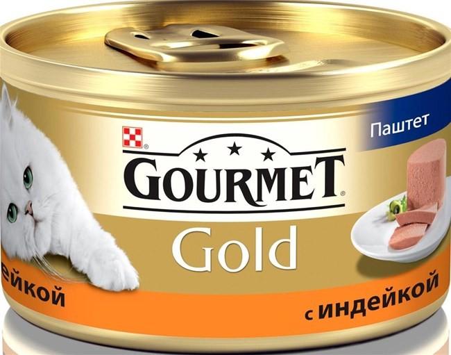 Gourmet Gold консервы для кошек всех возрастов с индейкой 85г