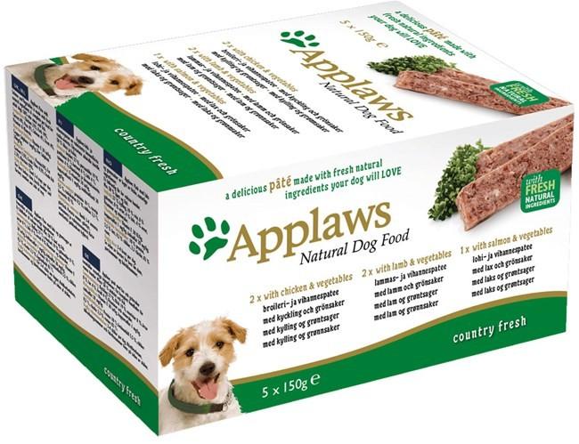 Набор Applaws ламистеры для собак всех возрастов и пород с курицей, ягненком и лососем 5шт*150гр