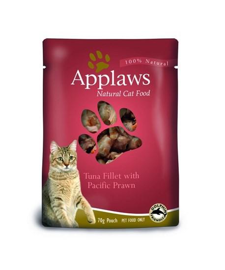 Applaws пауч для кошек всех возрастов с тунцом и креветкой 70г