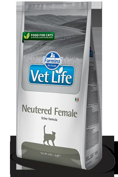 Farmina Vet Life Neutered Female диетический сухой корм для стерилизованных кошек