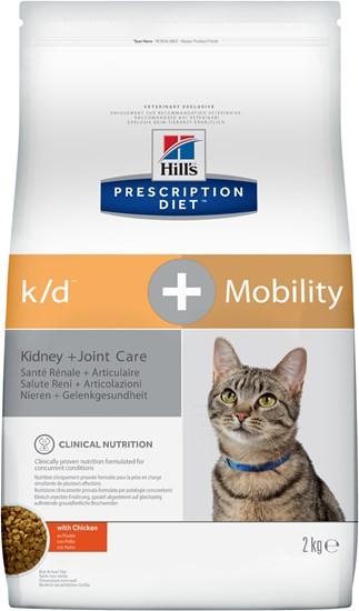 Hill`s Prescription Diet k/d+Mobility диетический сухой корм для кошек лечение заболеваний почек+суставных заболеваний 2 кг
