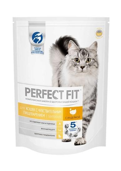 Perfect Fit сухой корм для кошек всех возрастов с чувствительным пищеварением с индейкой