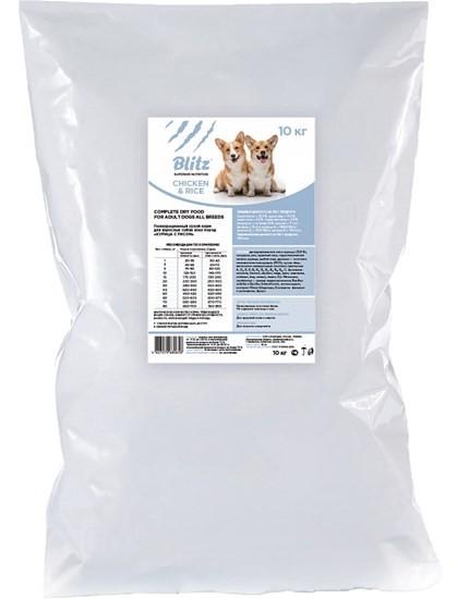 Blitz Adult All Breeds сухой корм для взрослых собак всех пород с курицей