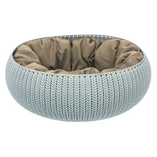 Лежанка для домашнего любимца Knit , серо-голубой