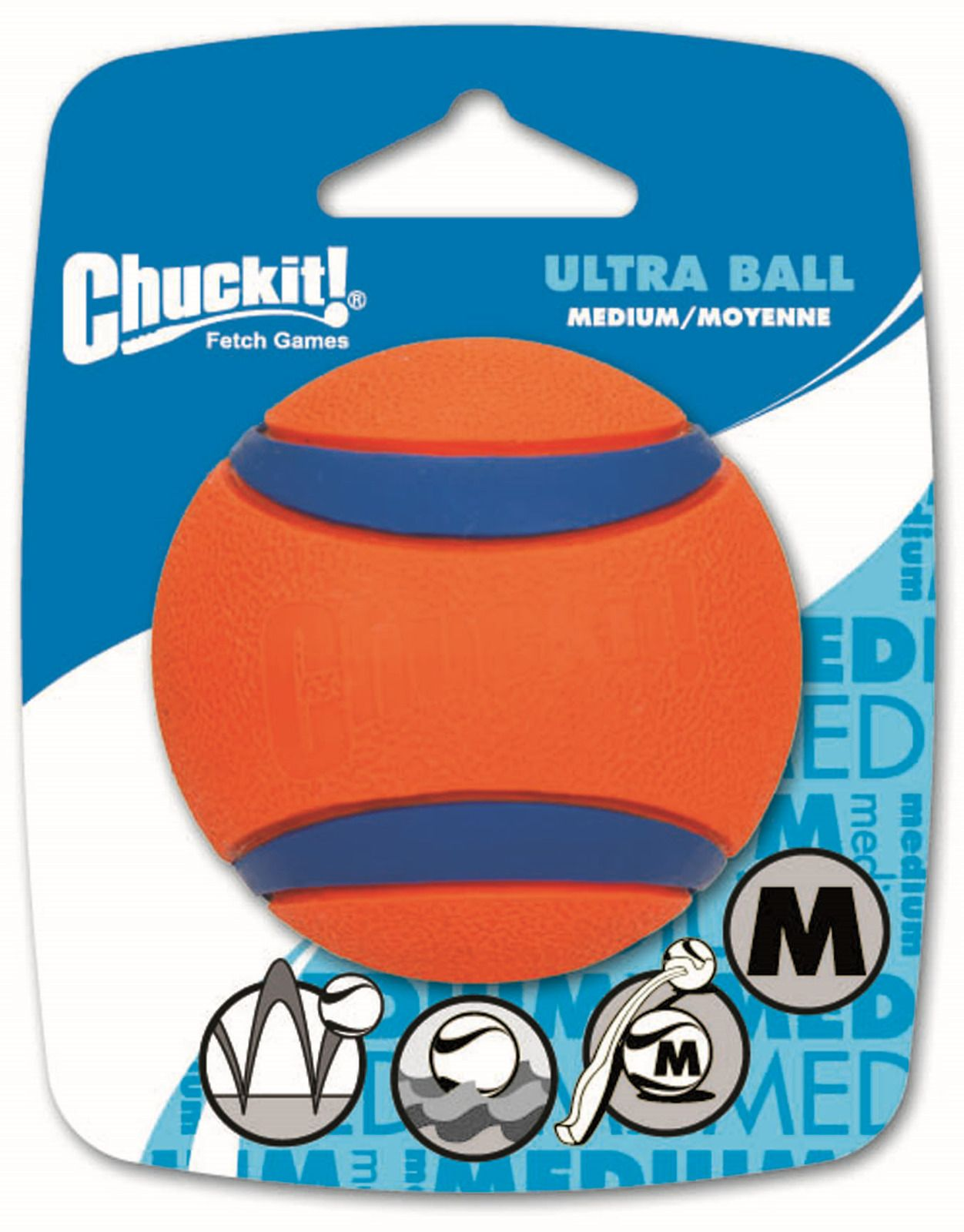 Игрушка д/собак Теннисный мяч ультра, резина, средняя