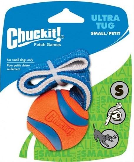 Chuckit Ultra Tug игрушка для собак - перетяжка - теннисный мяч, маленькая (4,8 см)