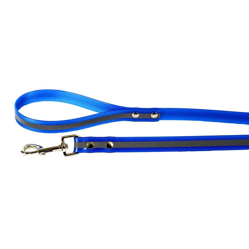 Каскад Поводок светоотражающий 20мм*180см синий нейлон