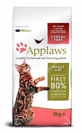 Applaws Adult Chicken&Salmon сухой корм для взрослых кошек с курицей и лососем