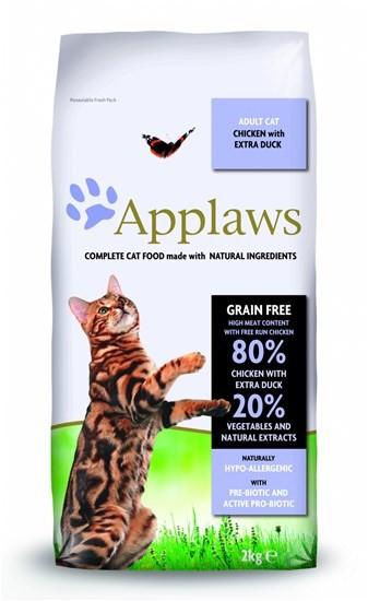 Applaws Grain Free Adult Chicken&Duck беззерновой сухой корм для взрослых кошек с курицей и уткой