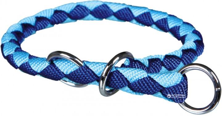 Ошейник-удавка Кэво L 47-55см*18мм синий/голубой