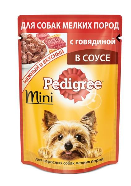 Pedigree пауч для собак всех возрастов мелких пород с говядиной паштет 85г
