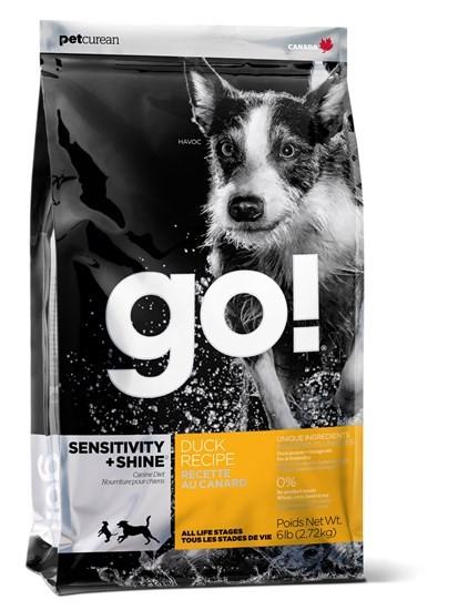 GO! Natural Sensitive+Shaine Duck сухой корм для собак всех возрастов и пород с чувствительным пищеварением с уткой