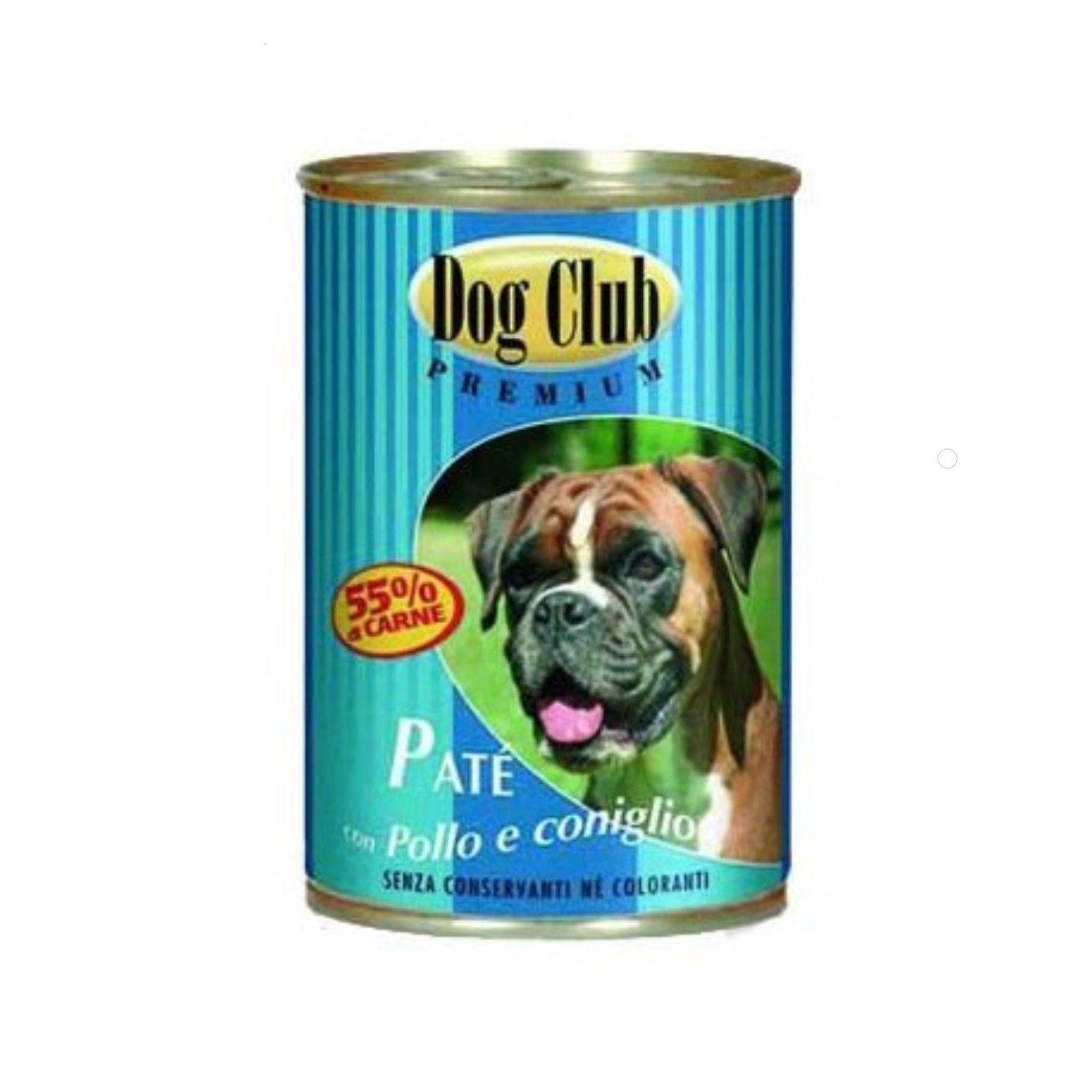 Dog Club консервы для собак всех возрастов и пород паштет с курицей 400гр