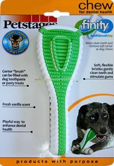 Петстейдж Игрушка д/собак Финити Дентал Джив Зубная щетка 15см очень маленькая