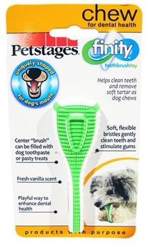 Петстейдж Игрушка д/собак Финити Дентал Джив Зубная щетка 9см очень маленькая