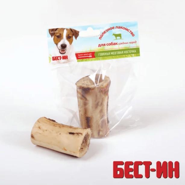 БЕСТ-ИН Говяжья Мозговая Косточка лакомство для собак средних пород