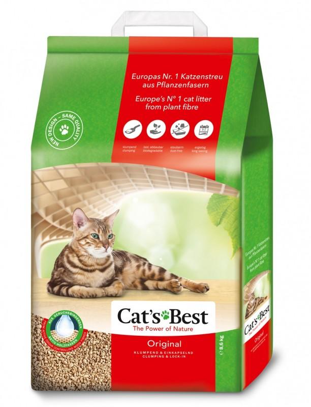 Cat's Best Original Деревесный Комкующийся наполнитель для туалета 2,3 кг (5л)