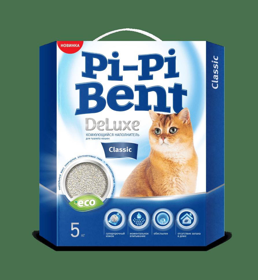 Pi-Pi Bent DeLuxe Classic комкующийся наполнитель для туалета 5 кг