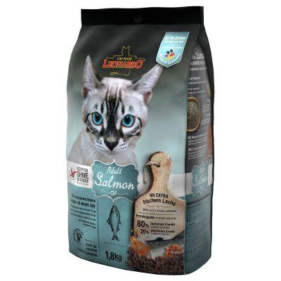 Leonardo Grain Free Adult Salmon беззерновой сухой корм для взрослых кошек с лососем