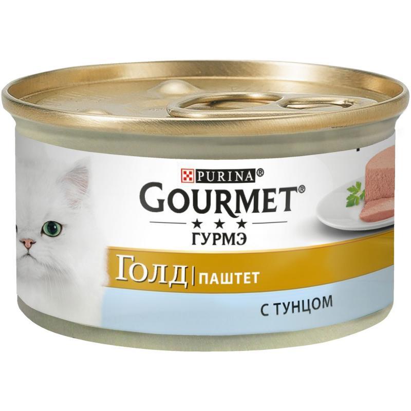 Gourmet Gold Нежная Начинка консервы для кошек всех возрастов с тунцом 85г