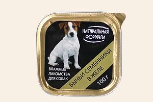 Натуральная Формула ламистер для собак всех возрастов и пород с бычьими семенниками в желе
