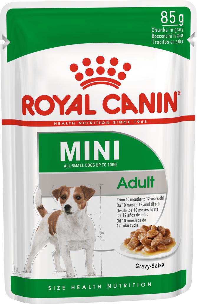 Royal Canin Mini Adult пауч для взрослых собак мелких пород, соус 85г