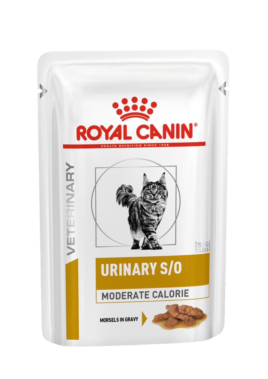 Royal Canin Urinary S/O Moderate Calorie влажный корм для кошек всех возрастов низкокалорийный при МКБ 85г