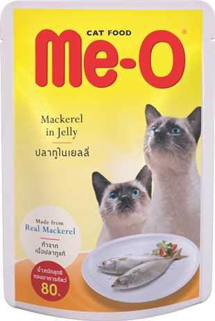 Ме-О Adult пауч для взрослых кошек макрель в желе 80г