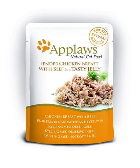 Applaws пауч для кошек всех возрастов с курицей и говядиной 70г
