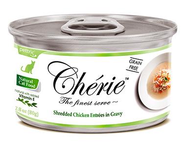 Pettric Cherie консервы для кошек всех возрастов с курицей и овощами в подливе 80г
