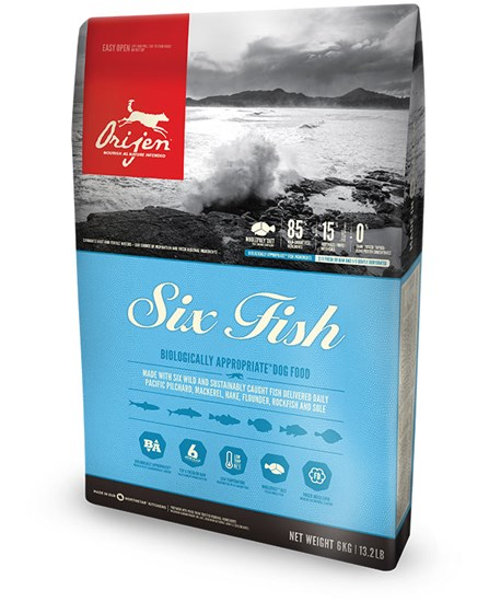 Orijen Six Fish сухой корм для собак всех возрастов и пород 6 рыб