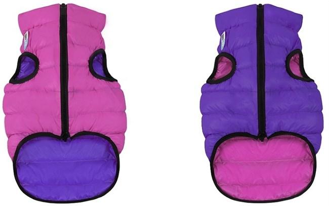 AiryVest жилетка двусторонняя для собак, розово-фиолетовая, M (50 см)