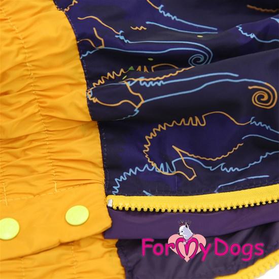Дождевик синий/желтый для девочек, р-р C1