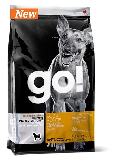 GO! Natural Sensitive+Shine Duck сухой корм для щенков и собак всех пород с чувствительным пищеварением с уткой
