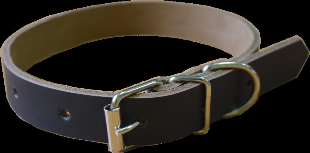 Арт.20450К014 Ошейник для собак ОС-20х450 кожаный прошитый с юфтьевой подкладкой, черный Н.б.