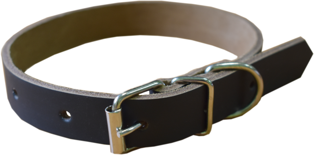 Арт.20450К016 Ошейник для собак ОС-20х450 кожаный прошитый с юфтьевой подкладкой, коричневый Н.б.